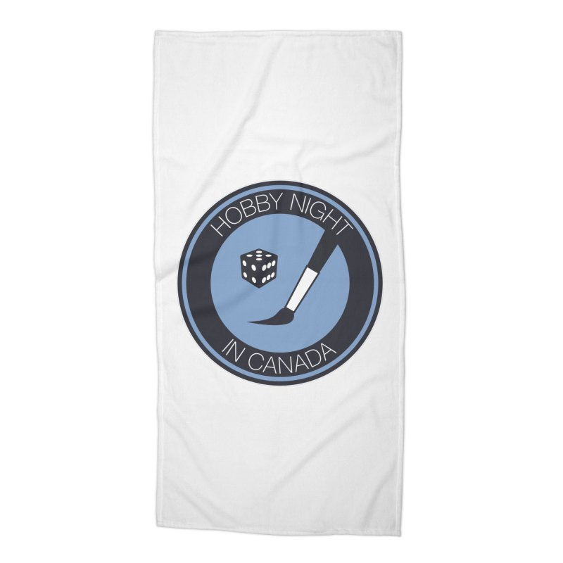 Hobby Night Logo Accessories Beach Towel by Hobby Night in Canada Podcast