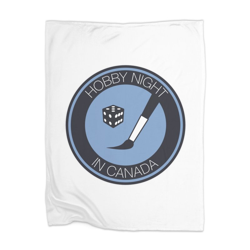 Hobby Night Logo Home Blanket by Hobby Night in Canada Podcast
