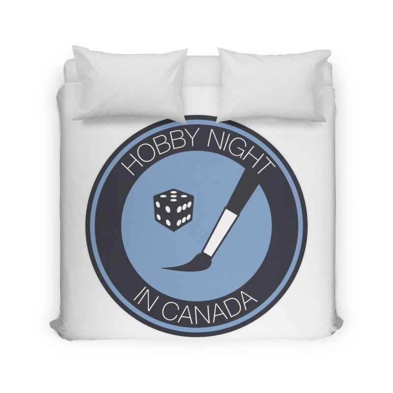 Hobby Night Logo Home Duvet by Hobby Night in Canada Podcast