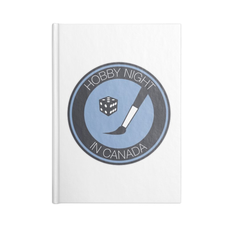 Hobby Night Logo Accessories Blank Journal Notebook by Hobby Night in Canada Podcast