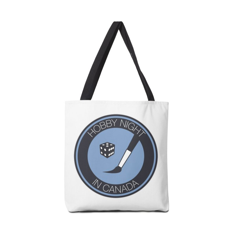 Hobby Night Logo Accessories Tote Bag Bag by Hobby Night in Canada Podcast