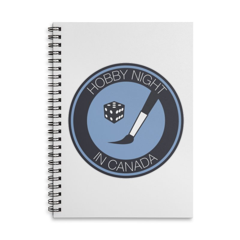 Hobby Night Logo Accessories Lined Spiral Notebook by Hobby Night in Canada Podcast