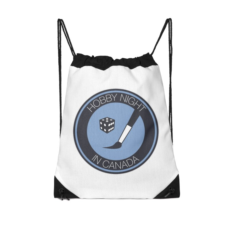 Hobby Night Logo Accessories Drawstring Bag Bag by Hobby Night in Canada Podcast