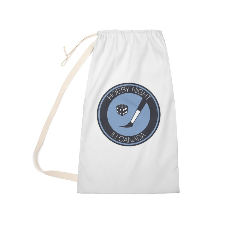 Hobby Night Logo Accessories Laundry Bag Bag by Hobby Night in Canada Podcast