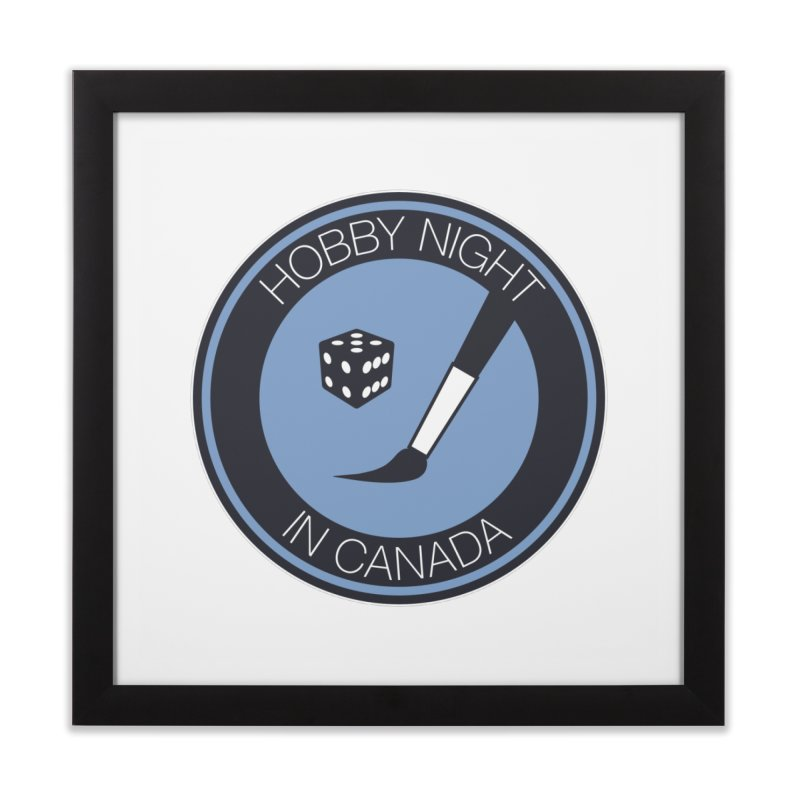 Hobby Night Logo Home Framed Fine Art Print by Hobby Night in Canada Podcast