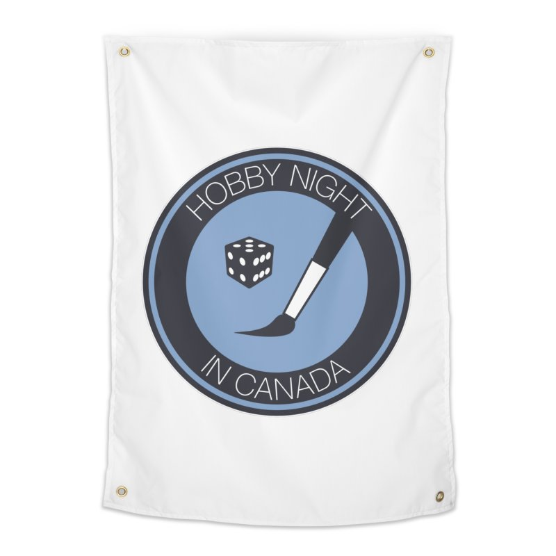 Hobby Night Logo Home Tapestry by Hobby Night in Canada Podcast