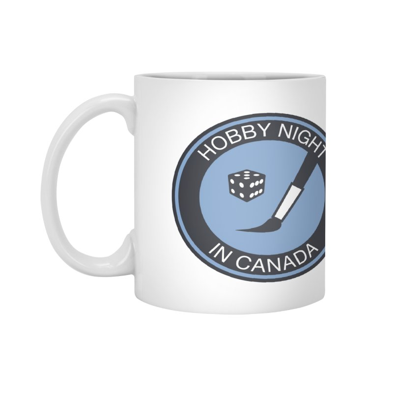 Hobby Night Logo - BOLD Accessories Mug by Hobby Night in Canada Podcast