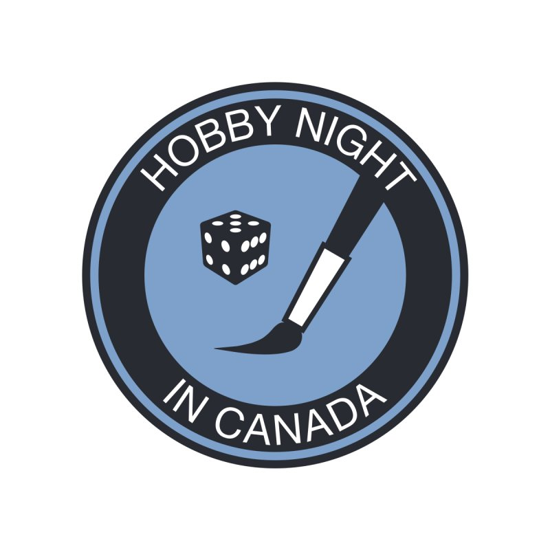 Hobby Night Logo - BOLD Men's V-Neck by Hobby Night in Canada Podcast