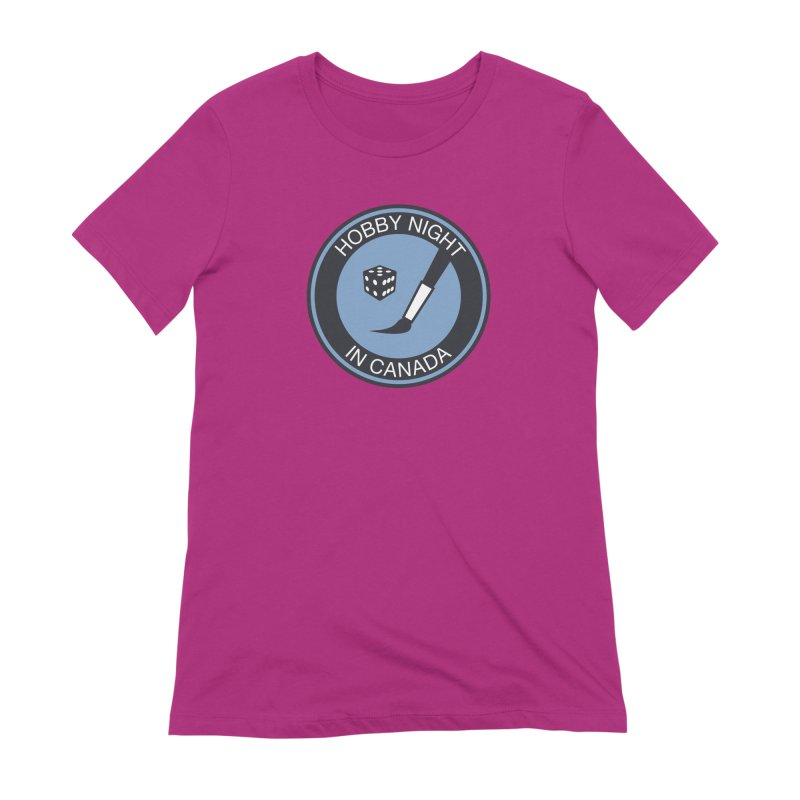 Hobby Night Logo - BOLD Women's Extra Soft T-Shirt by Hobby Night in Canada Podcast