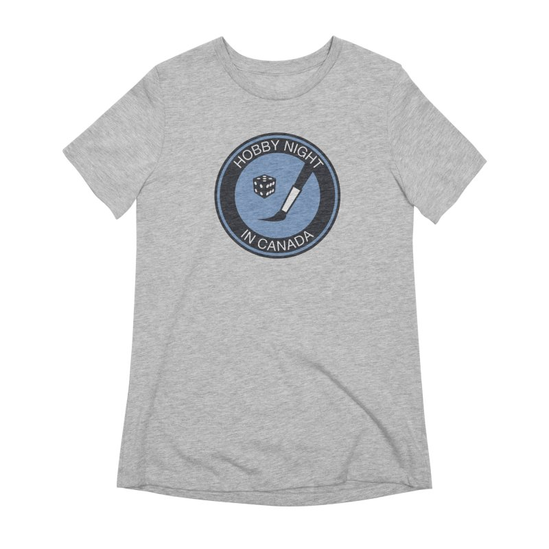 Hobby Night Logo - BOLD Women's Extra Soft T-Shirt by Hobby Night in Canada Podcast
