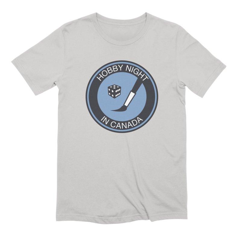 Hobby Night Logo - BOLD Men's Extra Soft T-Shirt by Hobby Night in Canada Podcast