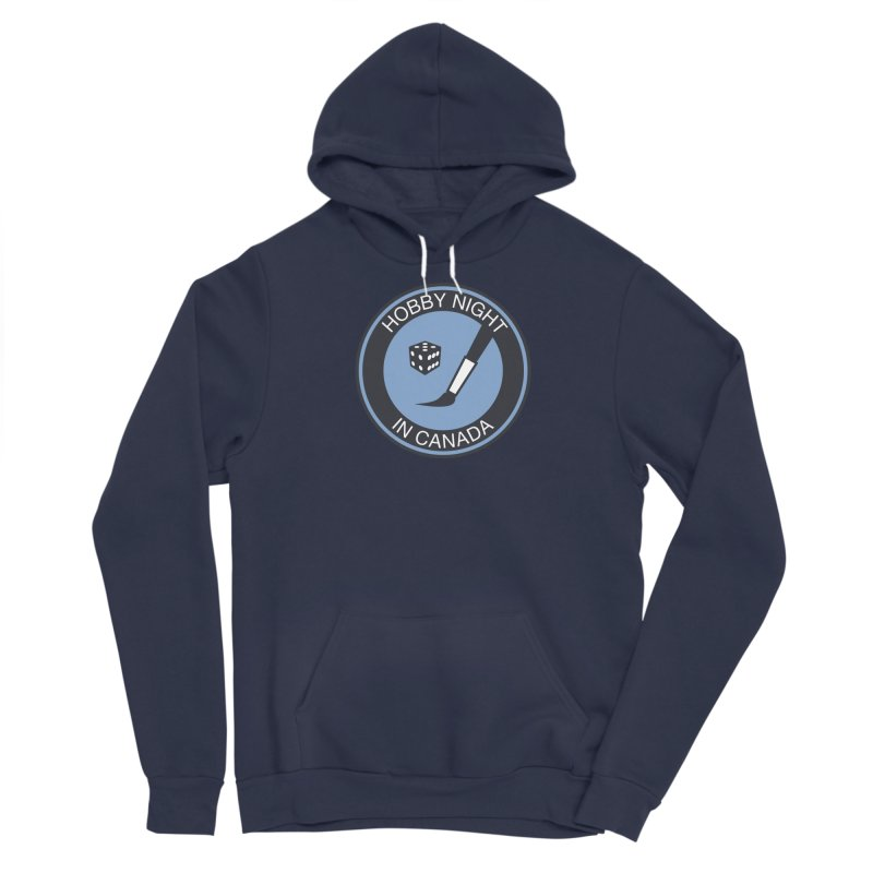 Hobby Night Logo - BOLD Men's Pullover Hoody by Hobby Night in Canada Podcast