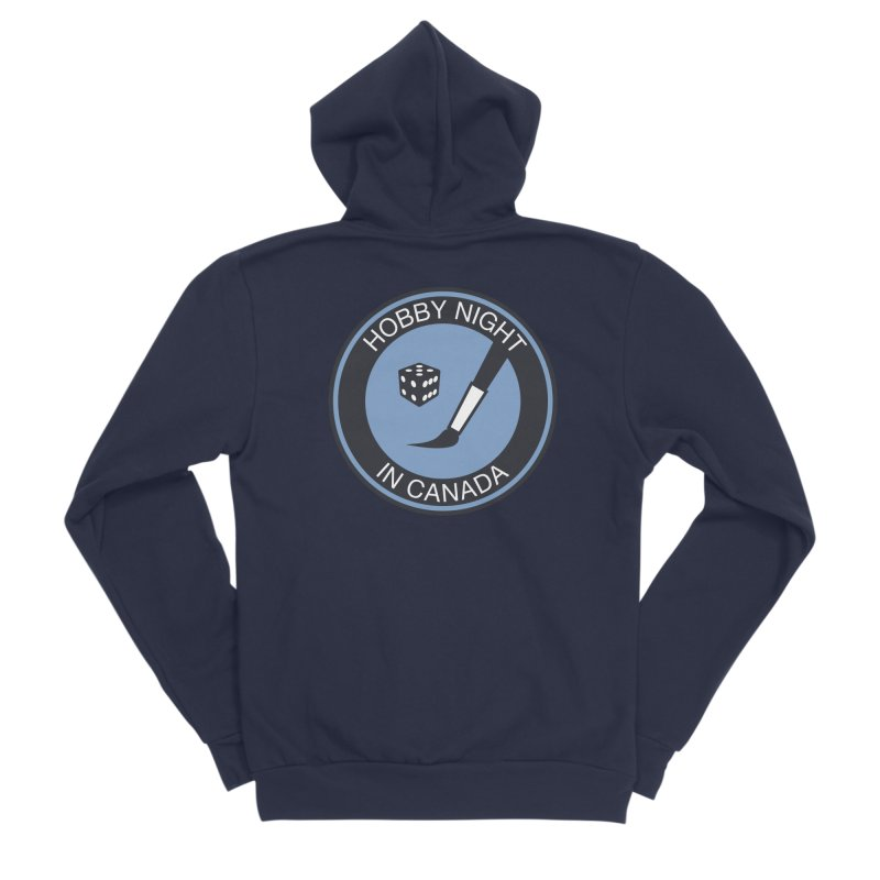 Hobby Night Logo - BOLD Men's Sponge Fleece Zip-Up Hoody by Hobby Night in Canada Podcast