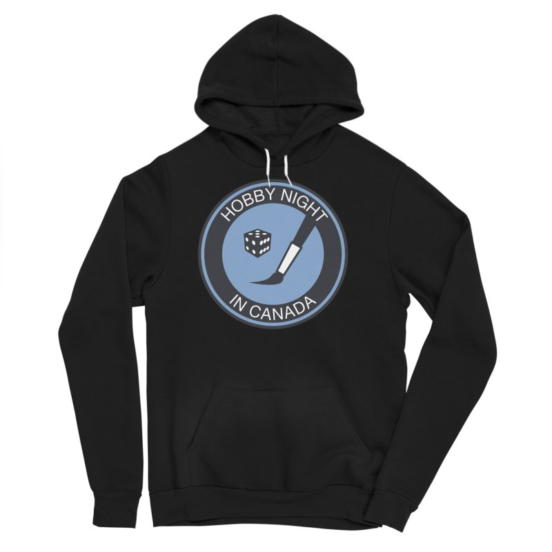 Hobby Night Logo - BOLD Men's Sponge Fleece Pullover Hoody by Hobby Night in Canada Podcast