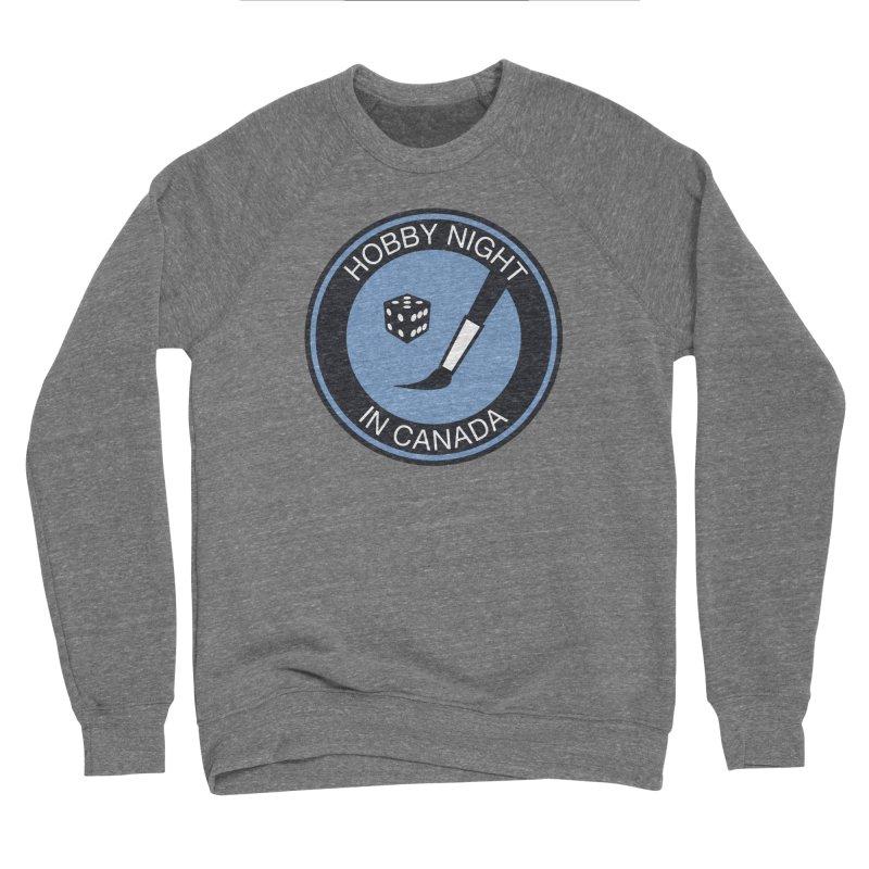 Hobby Night Logo - BOLD Men's Sponge Fleece Sweatshirt by Hobby Night in Canada Podcast