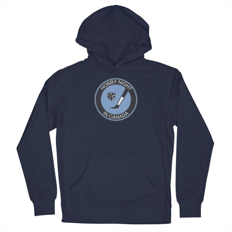 Hobby Night Logo - BOLD Men's Pullover Hoody by Hobby Night in Canada Podcast