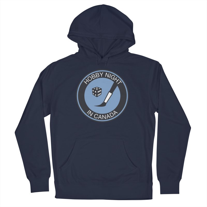 Hobby Night Logo - BOLD Women's French Terry Pullover Hoody by Hobby Night in Canada Podcast