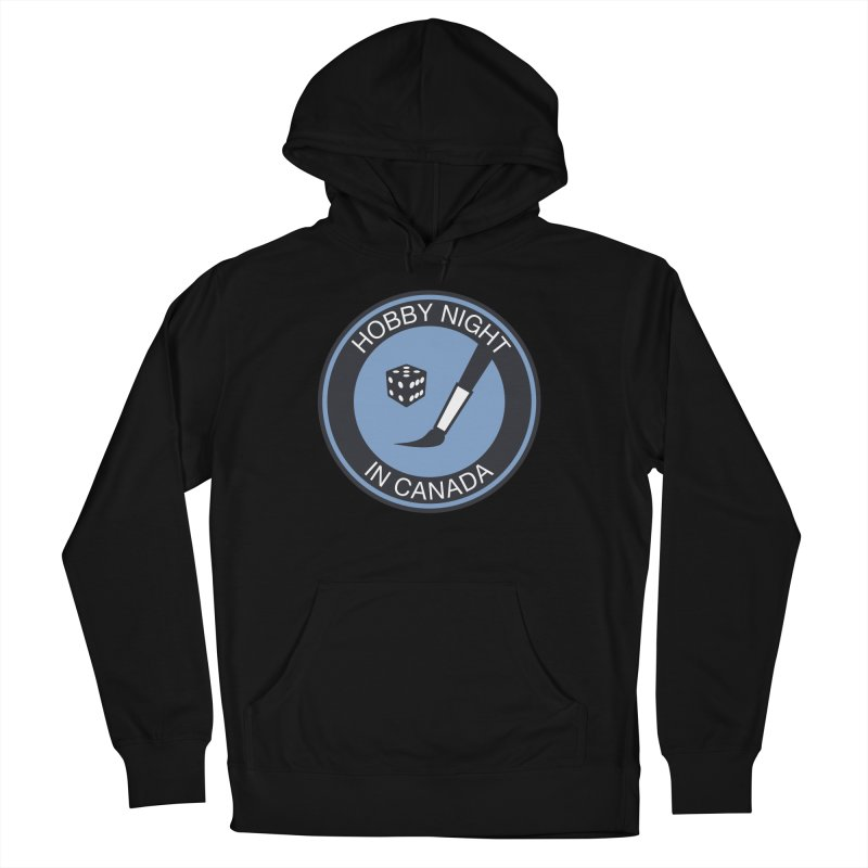 Hobby Night Logo - BOLD Men's French Terry Pullover Hoody by Hobby Night in Canada Podcast
