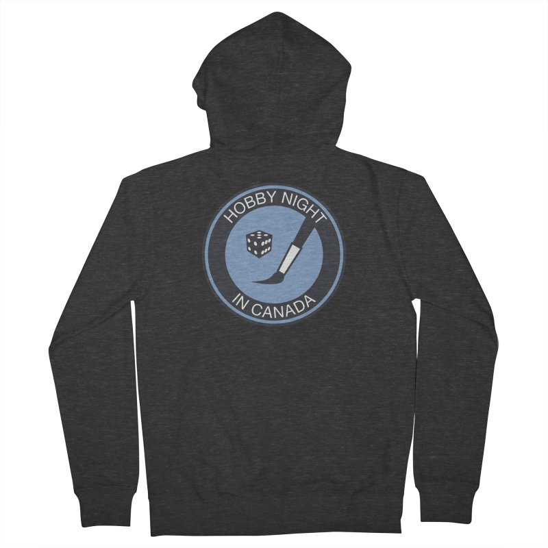 Hobby Night Logo - BOLD Women's Zip-Up Hoody by Hobby Night in Canada Podcast