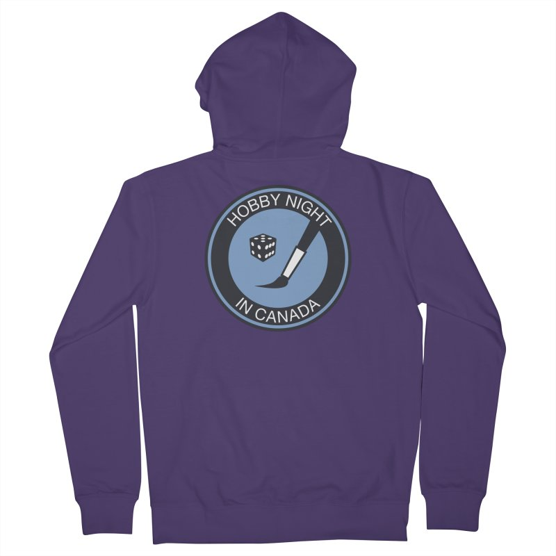 Hobby Night Logo - BOLD Women's French Terry Zip-Up Hoody by Hobby Night in Canada Podcast