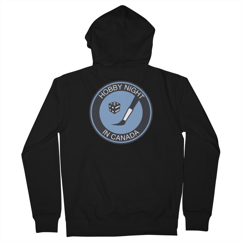 Hobby Night Logo - BOLD Men's French Terry Zip-Up Hoody by Hobby Night in Canada Podcast
