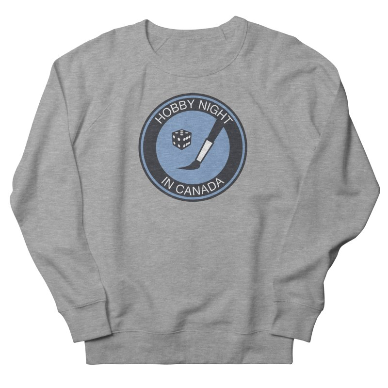 Hobby Night Logo - BOLD Men's French Terry Sweatshirt by Hobby Night in Canada Podcast