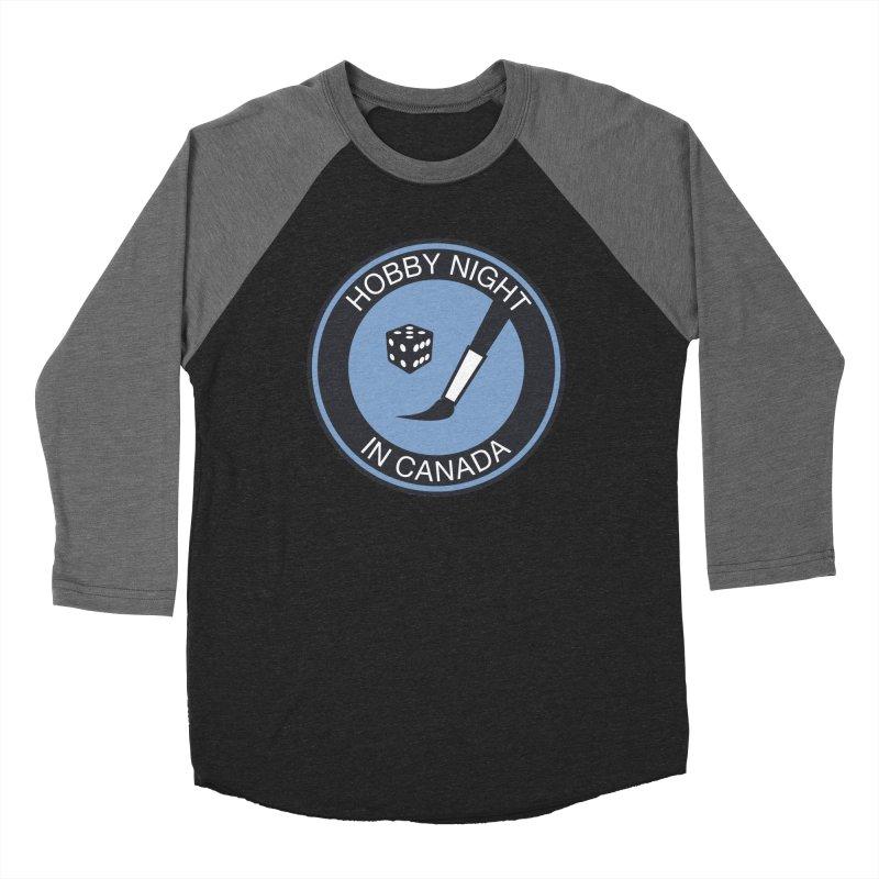 Hobby Night Logo - BOLD Men's Baseball Triblend Longsleeve T-Shirt by Hobby Night in Canada Podcast