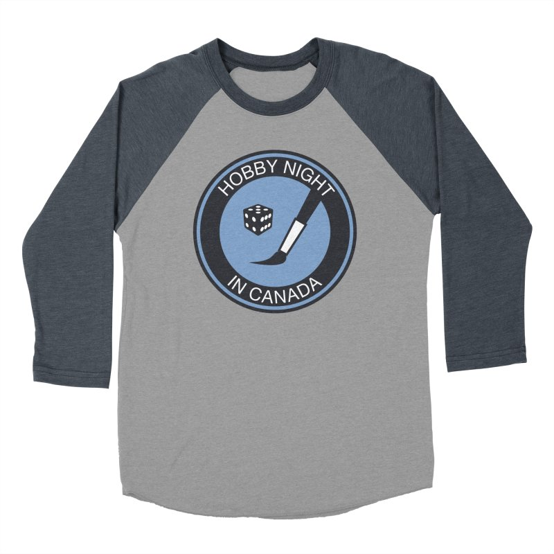 Hobby Night Logo - BOLD Men's Baseball Triblend Longsleeve T-Shirt by Hobby Night in Canada Podcast