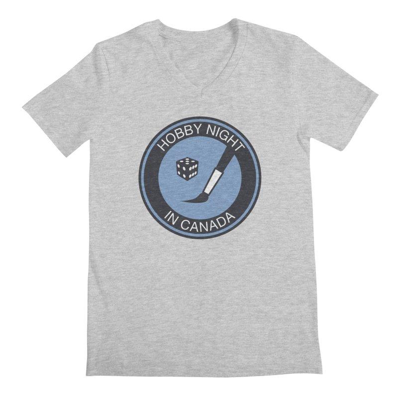 Hobby Night Logo - BOLD Men's Regular V-Neck by Hobby Night in Canada Podcast