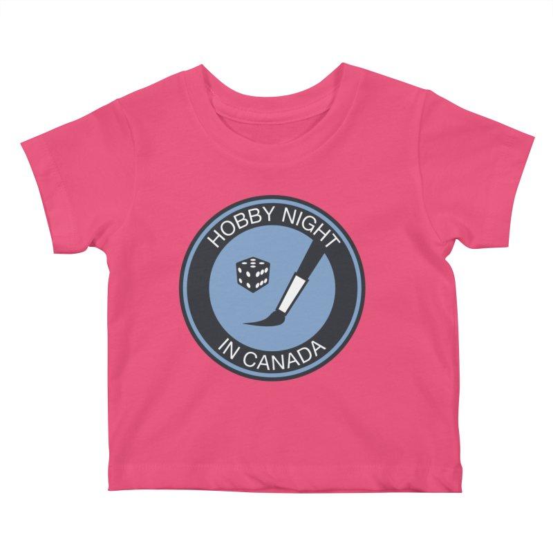 Hobby Night Logo - BOLD Kids Baby T-Shirt by Hobby Night in Canada Podcast