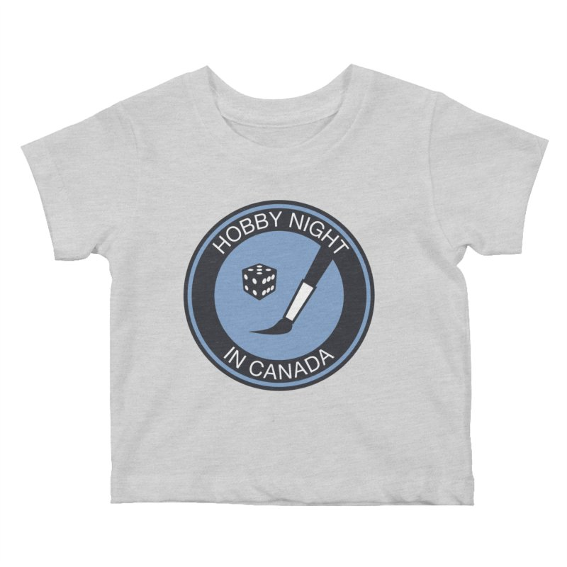 Hobby Night Logo - BOLD Kids Baby T-Shirt by Hobby Night in Canada Podcast