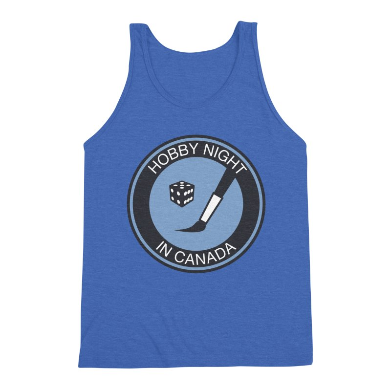 Hobby Night Logo - BOLD Men's Triblend Tank by Hobby Night in Canada Podcast