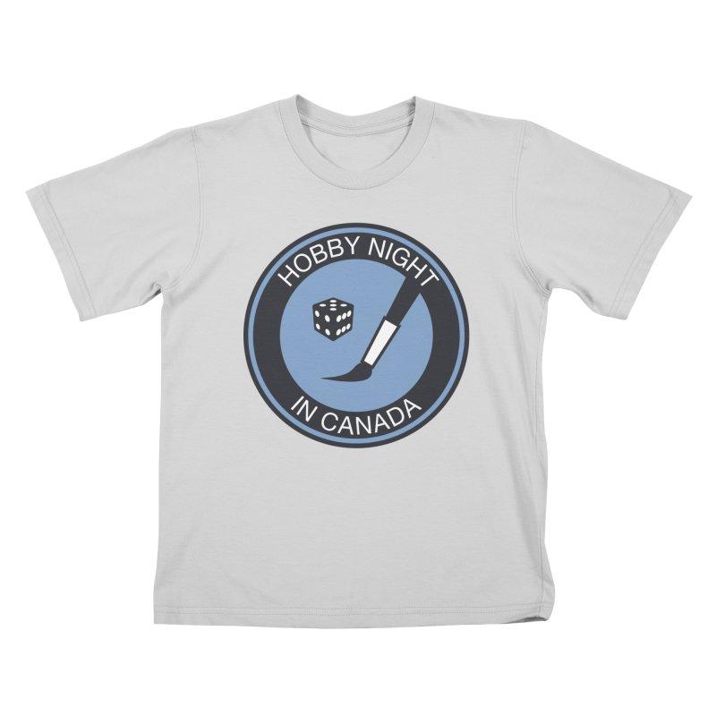 Hobby Night Logo - BOLD Kids T-Shirt by Hobby Night in Canada Podcast