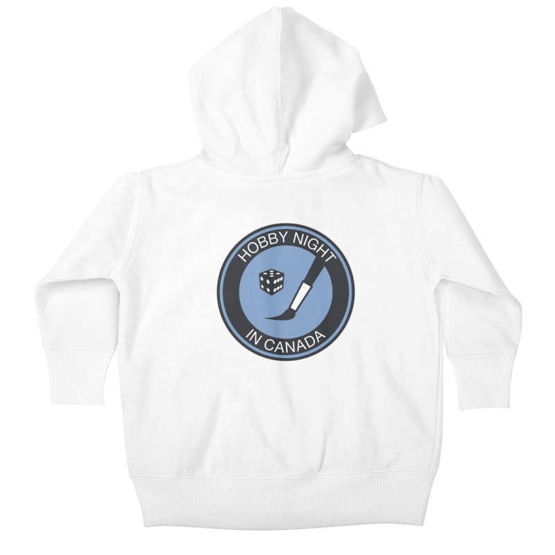 Hobby Night Logo - BOLD Kids Baby Zip-Up Hoody by Hobby Night in Canada Podcast