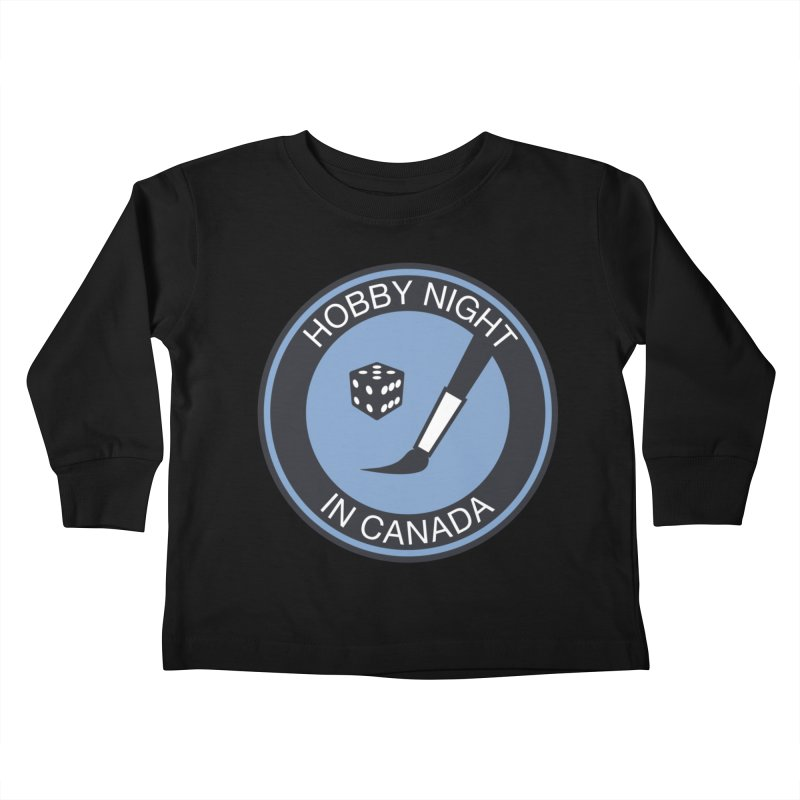 Hobby Night Logo - BOLD Kids Toddler Longsleeve T-Shirt by Hobby Night in Canada Podcast