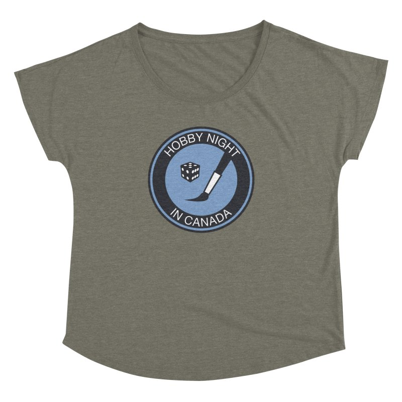 Hobby Night Logo - BOLD Women's Dolman Scoop Neck by Hobby Night in Canada Podcast