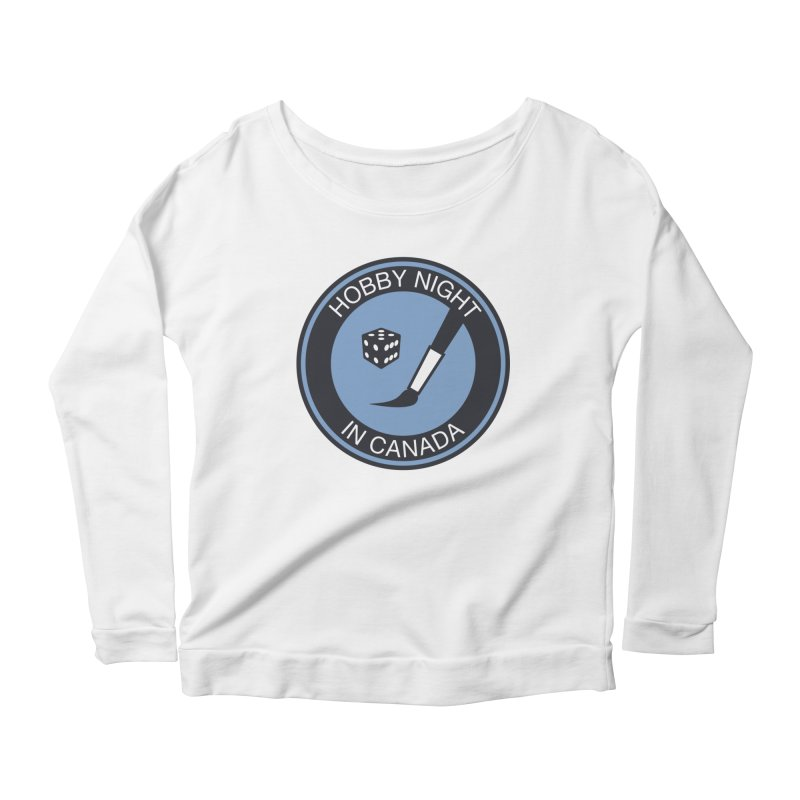 Hobby Night Logo - BOLD Women's Longsleeve T-Shirt by Hobby Night in Canada Podcast