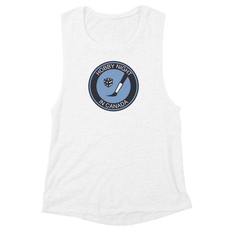 Hobby Night Logo - BOLD Women's Muscle Tank by Hobby Night in Canada Podcast