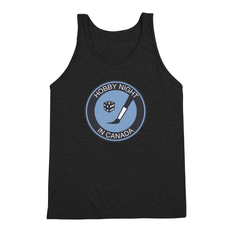 Hobby Night Logo - BOLD Men's Triblend Tank by Hobby Night in Canada Podcast