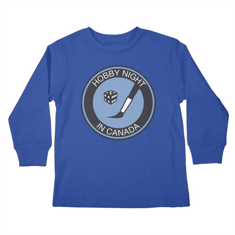 Hobby Night Logo - BOLD Kids Longsleeve T-Shirt by Hobby Night in Canada Podcast