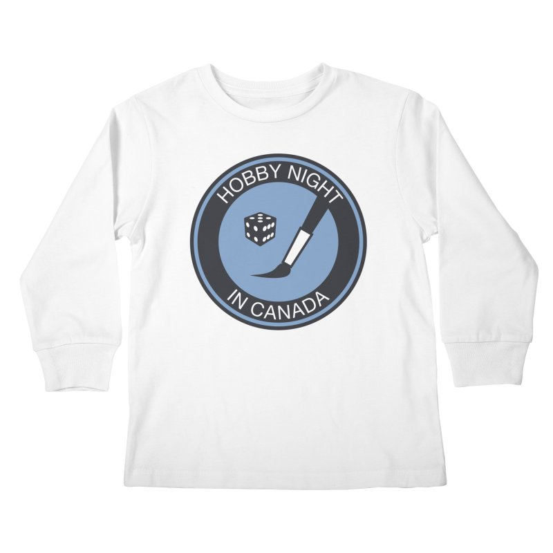 Hobby Night Logo - BOLD Kids Longsleeve T-Shirt by Hobby Night in Canada Podcast
