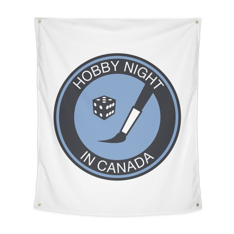 Hobby Night Logo - BOLD Home Tapestry by Hobby Night in Canada Podcast