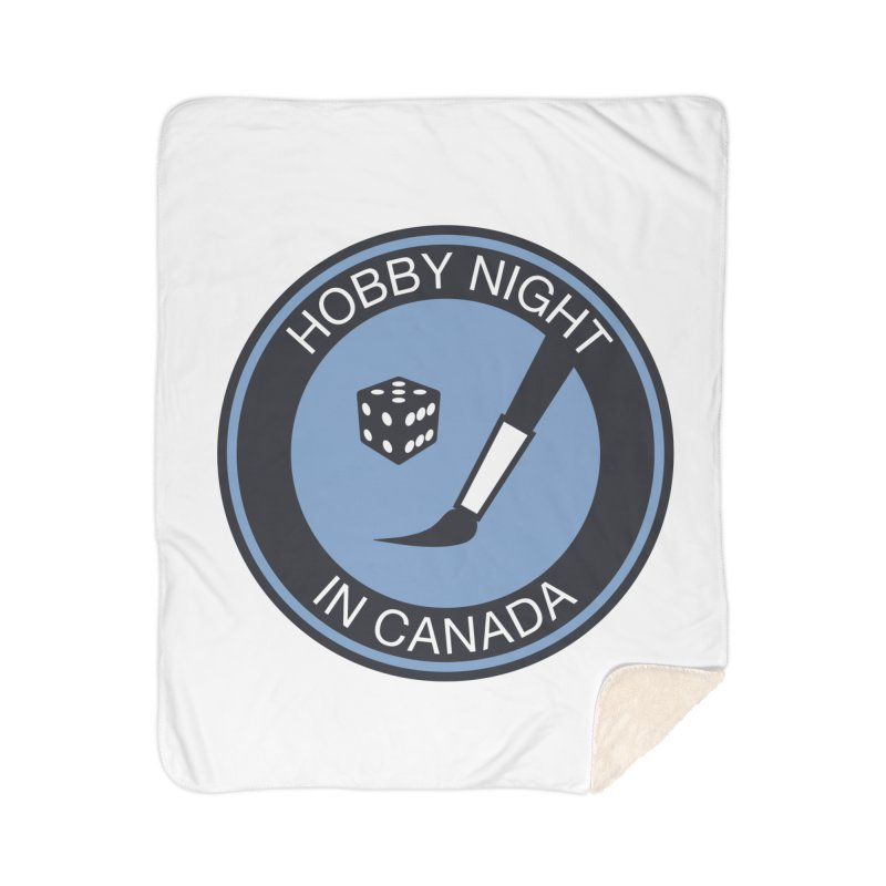 Hobby Night Logo - BOLD Home Sherpa Blanket Blanket by Hobby Night in Canada Podcast