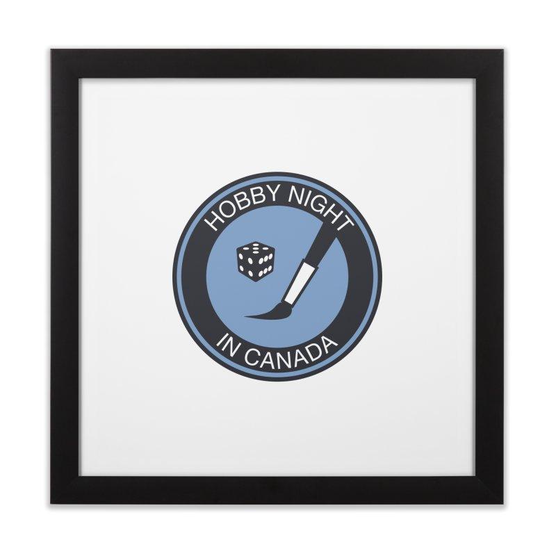 Hobby Night Logo - BOLD Home Framed Fine Art Print by Hobby Night in Canada Podcast