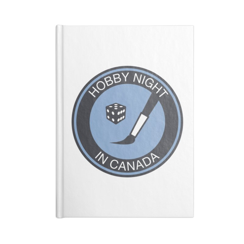 Hobby Night Logo - BOLD Accessories Blank Journal Notebook by Hobby Night in Canada Podcast