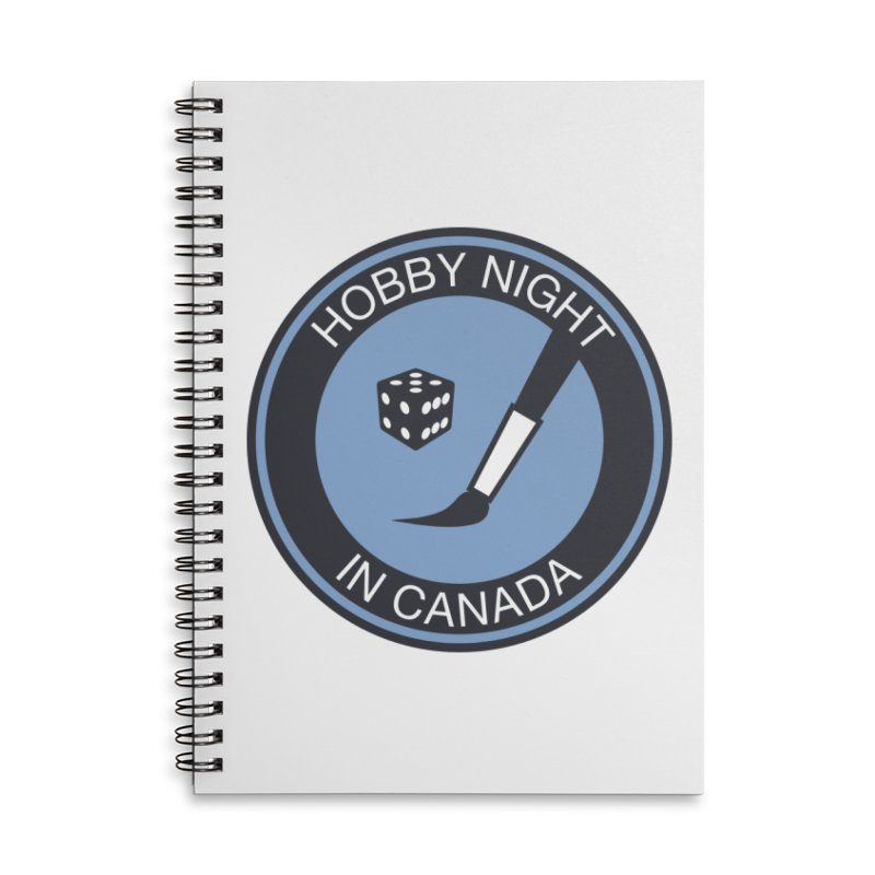 Hobby Night Logo - BOLD Accessories Lined Spiral Notebook by Hobby Night in Canada Podcast
