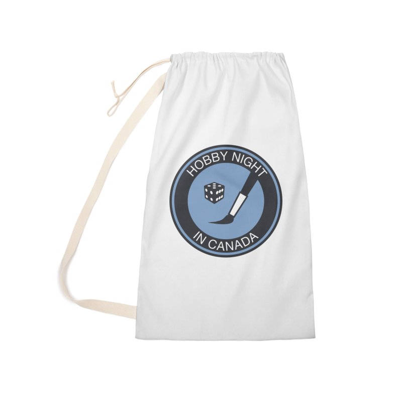 Hobby Night Logo - BOLD Accessories Laundry Bag Bag by Hobby Night in Canada Podcast