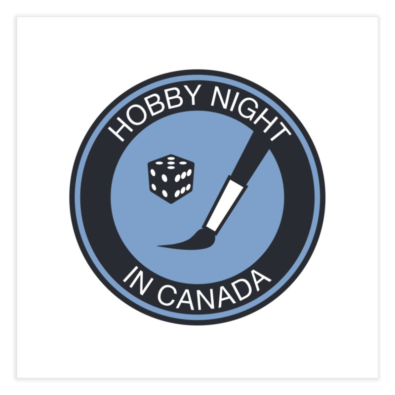 Hobby Night Logo - BOLD Home Fine Art Print by Hobby Night in Canada Podcast