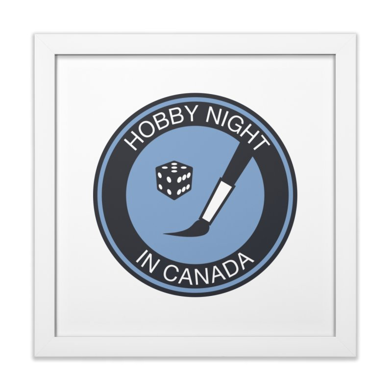 Hobby Night Logo - BOLD Home Framed Fine Art Print by Hobby Night in Canada Podcast