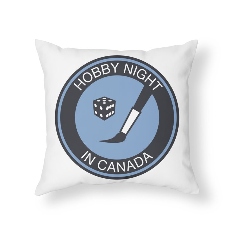 Hobby Night Logo - BOLD Home Throw Pillow by Hobby Night in Canada Podcast